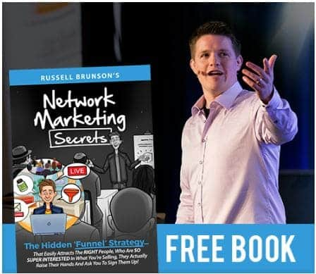 Russell brunson network marketing secrets advertising banner