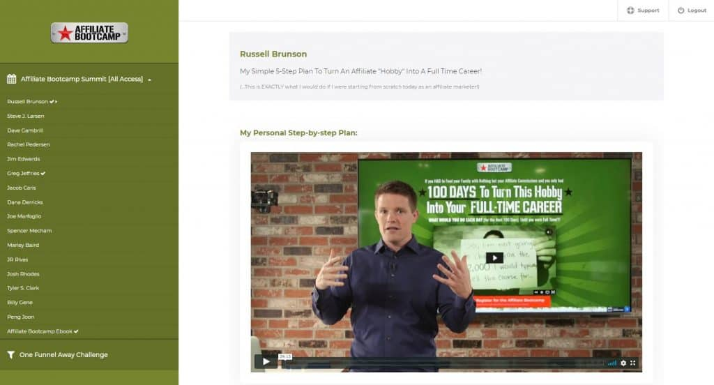 Clickfunnels Affiliate Bootcamp training