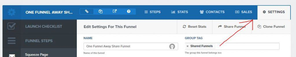 funnel settings