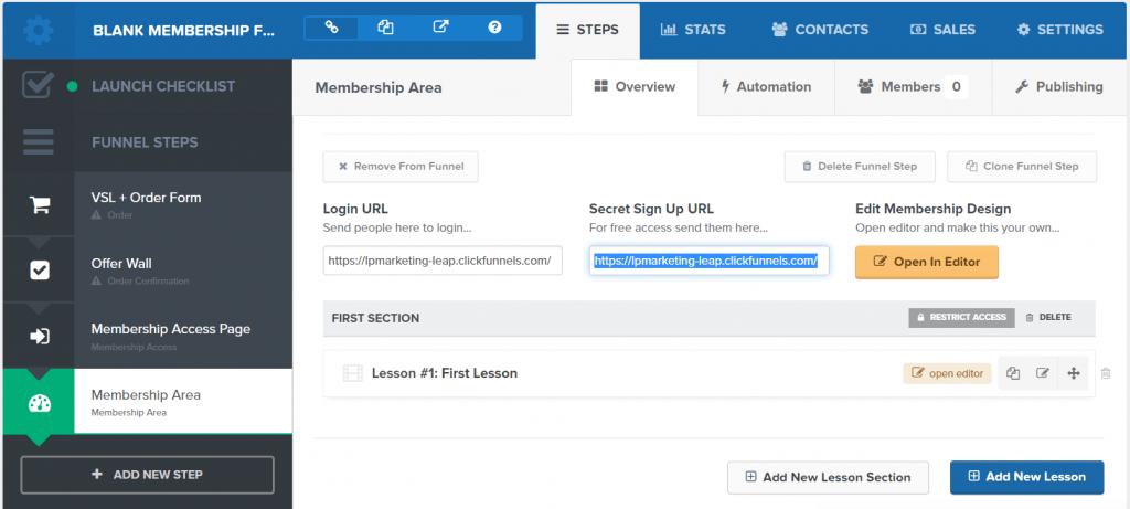 clickfunnels membership site