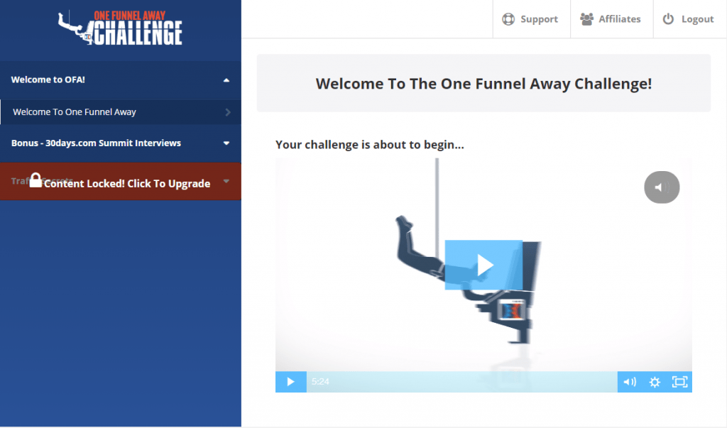 one funnel away membership site example