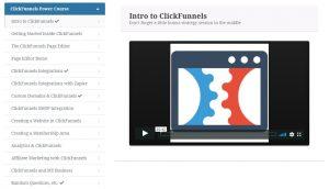 Clickfunnels Course screen