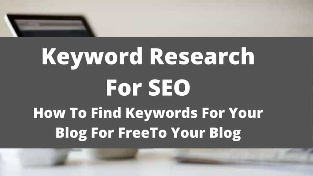 free Keyword Research For SEO featured image
