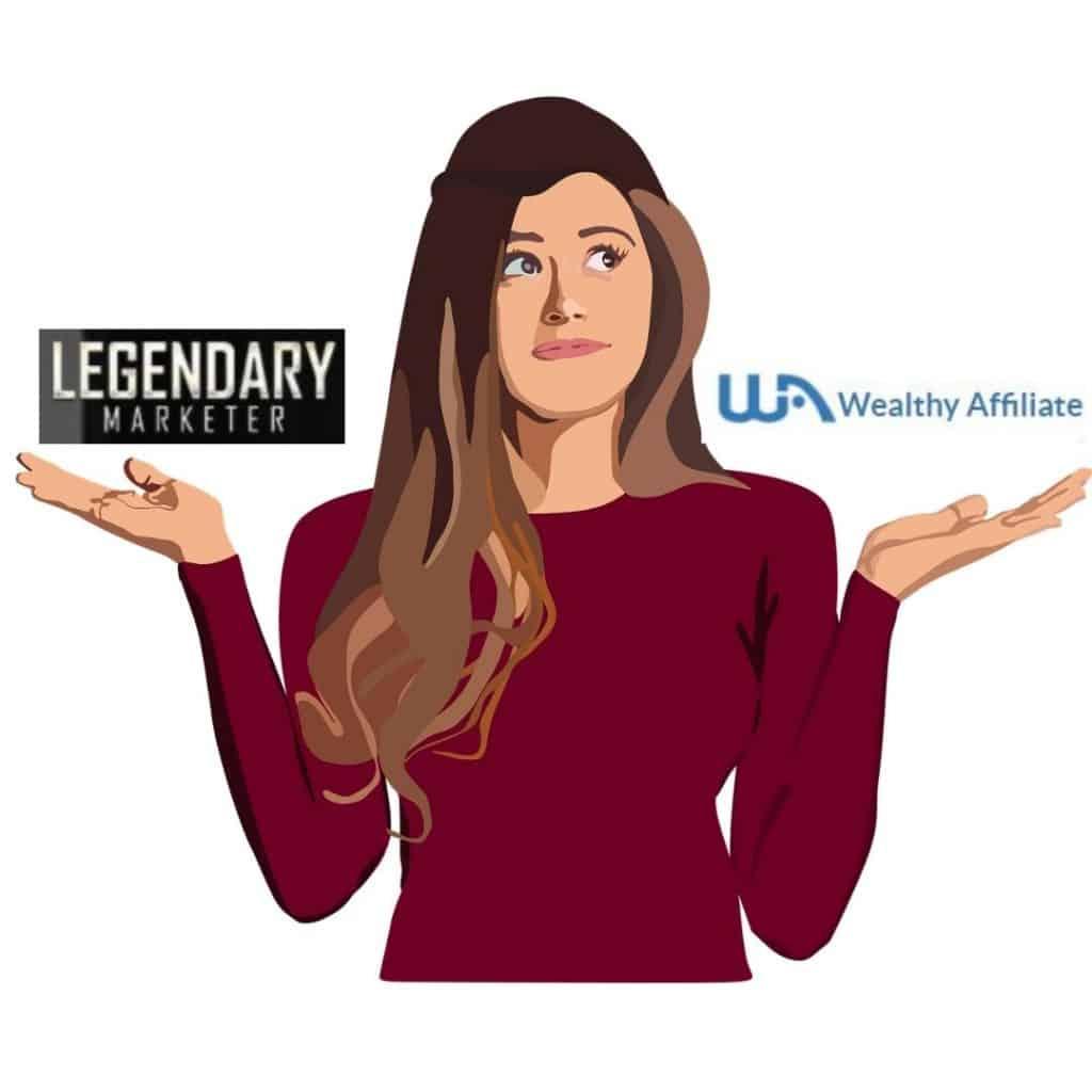 legendary marketer vs wealthy affiliate comparison