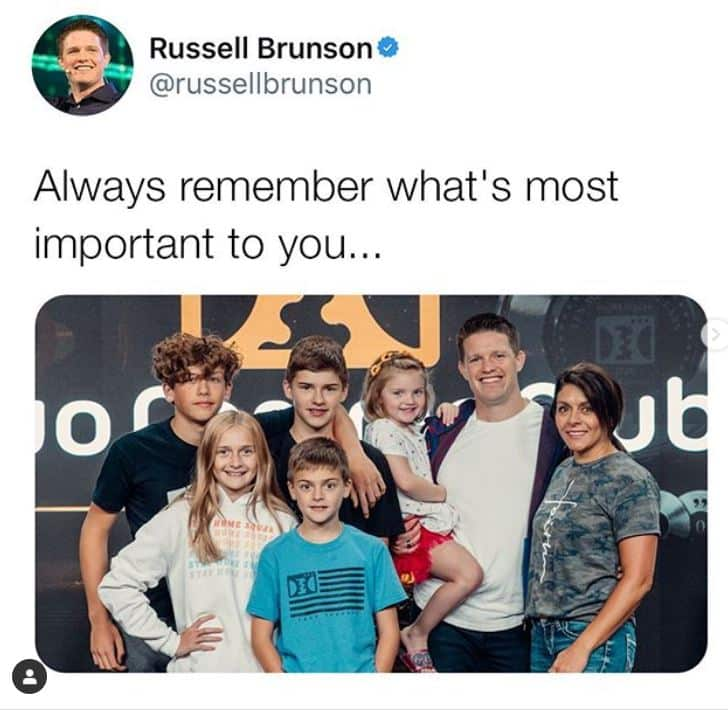 russel brunson wife and kids