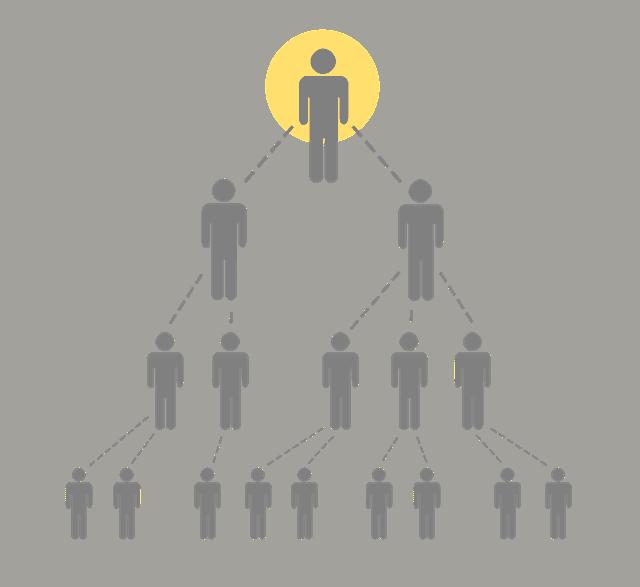 legendary marketer pyramid scheme graphic