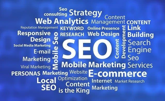 online marketing keywords graphic