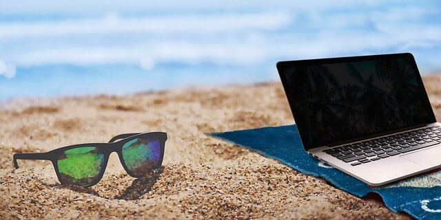 does air bnb have an affiliate program sunglasses with laptop on beach