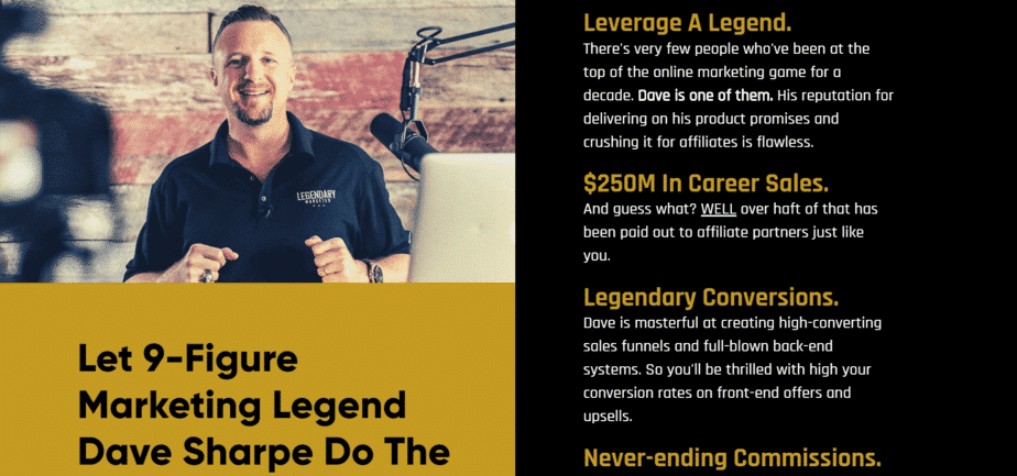 david sharpe legendary marketer overview