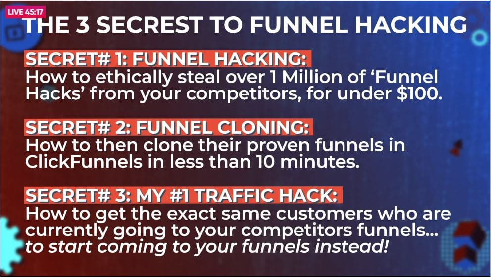 three secrets of funnel hacking