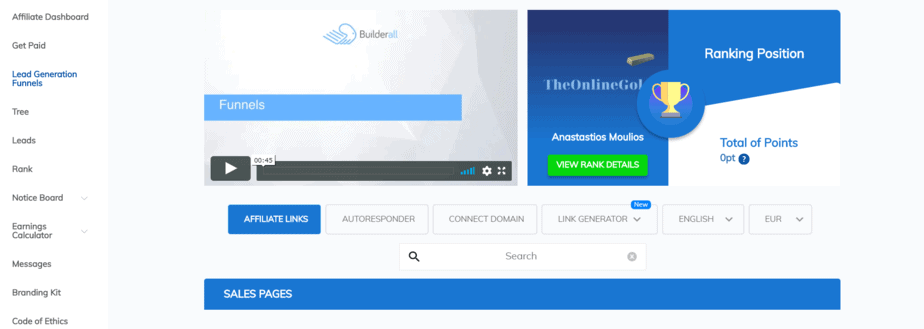 builderall affiliate link creation process