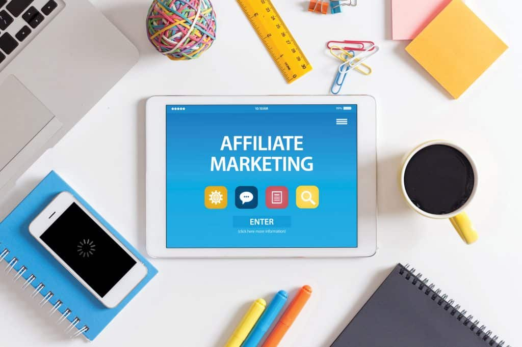 starting with affiliate marketing on tablet