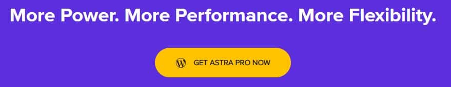 astra theme banner with button