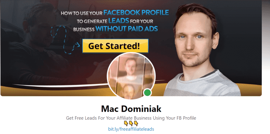 Make money with Facebook banner example