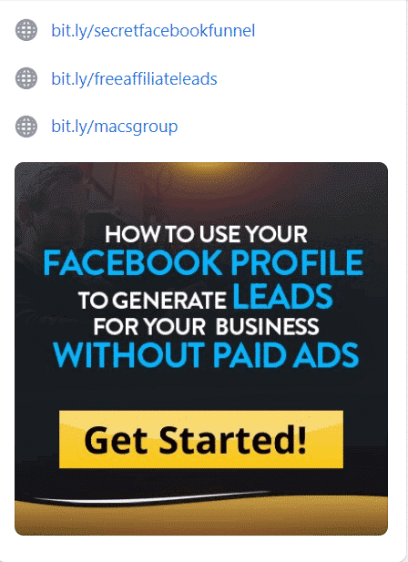 Facebook featured image with affiliate links