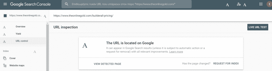indexing a site in google search console