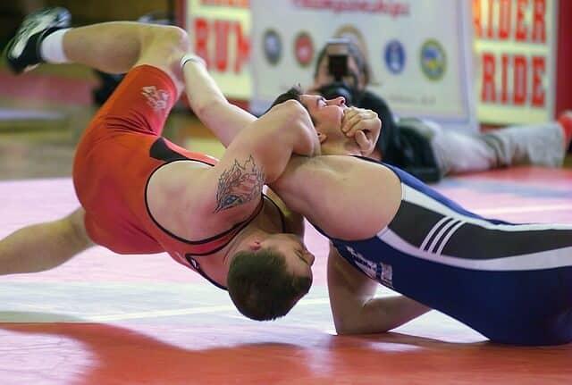 two male wrestling